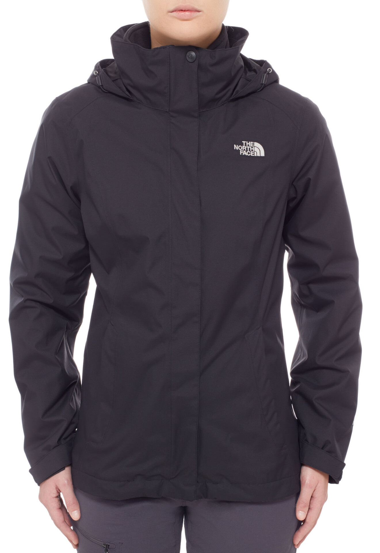 chaqueta the north face evolve ii triclimate negro mujer